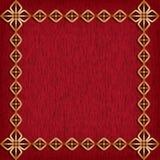 Rode achtergrond met gouden kader royalty-vrije illustratie