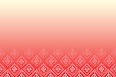 Rode achtergrond met lijn van diamanten Royalty-vrije Stock Foto's
