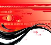 Rode achtergrond met olie Royalty-vrije Illustratie