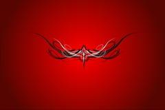 Rode achtergrond met ornament Vector Illustratie