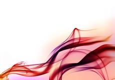 Rode achtergrond met rook Royalty-vrije Stock Fotografie