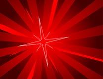 Rode achtergrond met ster vector illustratie