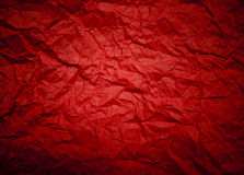 Rode achtergrond met verfrommelde patroon en lensvignetting. (horiz Stock Foto