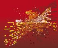 Rode achtergrond, vector Stock Afbeelding