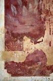 Rode afgebrokkelde muur Royalty-vrije Stock Foto's