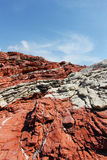 Rode afzettingsgesteenten, van Sicilië Stock Foto