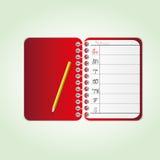 Rode agenda Stock Afbeeldingen