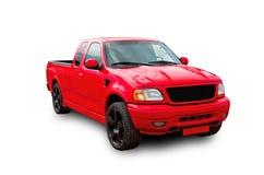 Rode Amerikaanse bestelwagen Royalty-vrije Stock Afbeelding