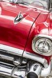 Rode Amerikaanse oude spierauto Stock Foto