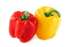 Rode & gele groene paprika Stock Afbeelding