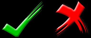 Rode & Groene Tikken stock illustratie