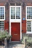 Rode antieke deur Stock Foto