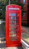 Rode Antieke Telefoon allebei stock foto's