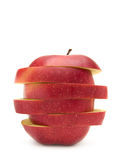 Rode appel die op het wit wordt geïsoleerdh stock fotografie