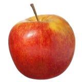 Rode appel die op wit wordt geïsoleerdt Royalty-vrije Stock Afbeeldingen