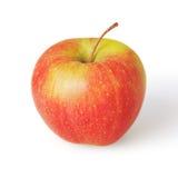 Rode appel die op witte achtergrond wordt geïsoleerde royalty-vrije stock foto's