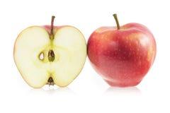 Rode appel en een plak van rode appel Stock Fotografie