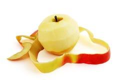 Rode appel en schil Stock Fotografie