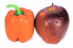 Rode appel en Spaanse peper Royalty-vrije Stock Fotografie