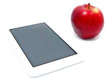 Rode appel en tablet geïsoleerde PC Royalty-vrije Stock Afbeelding