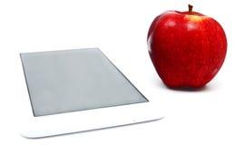 Rode appel en tablet geïsoleerde PC Stock Afbeeldingen