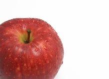 Rode appel met dalingen Royalty-vrije Stock Afbeelding