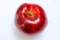 Rode appel met stam hoogste mening stock afbeelding