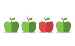 Rode appel onder groen Vector Illustratie