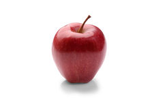 Rode appel op een witte achtergrond Stock Foto's