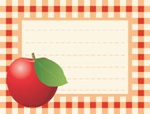 Rode appel op geruite achtergrond vector illustratie
