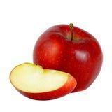Rode appel op witte achtergrond Stock Fotografie