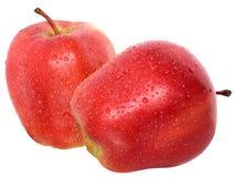 Rode appel twee stock fotografie