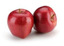 Rode appel twee Royalty-vrije Stock Fotografie