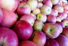 Rode appelen in de markt voor verkoop Stock Afbeeldingen