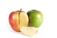 Rode appelen die op witte achtergrond worden geïsoleerd Royalty-vrije Stock Fotografie