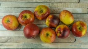 Rode appelen en nectarine Stock Foto's