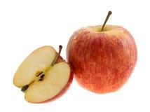 Rode appelen met dalingen de wateren. Royalty-vrije Stock Fotografie