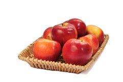 Rode appelen op een manddienblad op de witte achtergrond Royalty-vrije Stock Afbeelding