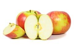 Rode appelen op witte achtergrond Stock Fotografie