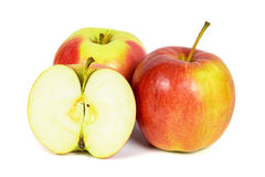 Rode appelen op witte achtergrond Royalty-vrije Stock Foto