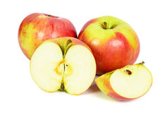 Rode appelen op witte achtergrond Stock Foto