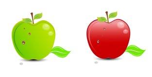 Rode appelgroene appel stock illustratie