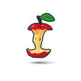 Rode Apple-Kern met Schaduw royalty-vrije illustratie
