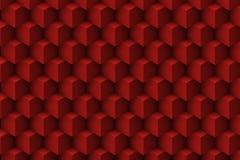 Rode architectonische 3D samenvatting Stock Afbeeldingen