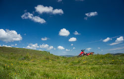 Rode ATV Stock Foto