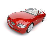Rode auto Stock Afbeelding