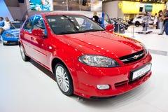 Rode auto Chevrolet Lacetti Royalty-vrije Stock Fotografie