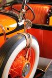 Rode auto, geest van tijd Stock Afbeelding