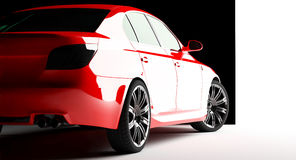 Rode auto op een achtergrond Stock Afbeelding