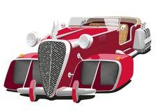 Rode auto van de toekomst Royalty-vrije Stock Foto's
